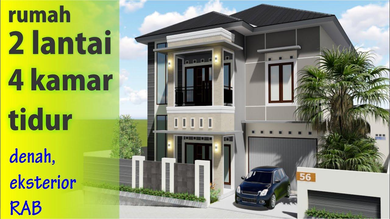 Desain Rumah Minimalis 2 lantai 4 Kamar tidur lengkap ...