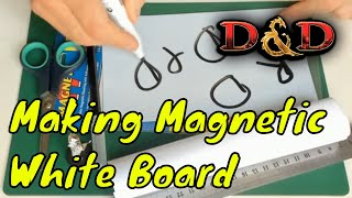 This live stream video shows how to make a small flexible dry erase white board for dungeons & dragons and the fridge. This video starts at 1:15. Magnetic Dry ...