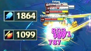 AKALI 1800+ AP & 1000+ AD! Ability Damage Test!
