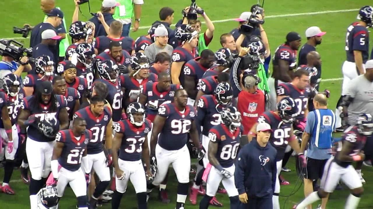 Houston Texans Team Huddle