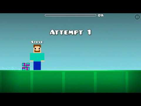 Geometry Dash Level: Minecraft (made by me)