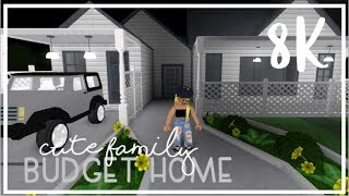 Bloxburg: Cute Family Budget Home Exterior  8k