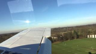 Piper PA34 seneca Landing at Elstree aerodrome