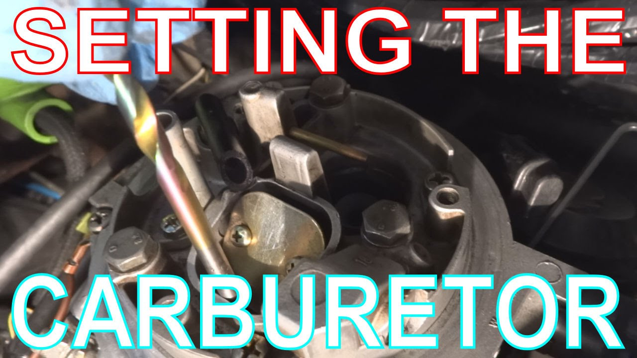 vw golf carburetor adjustments  setting fast idle  u0026 choke