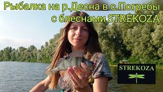 Уловистые блесны STREKOZA рыбалка на спиннинг летом ловля окуня в июле ловля судака на Десне Погребы