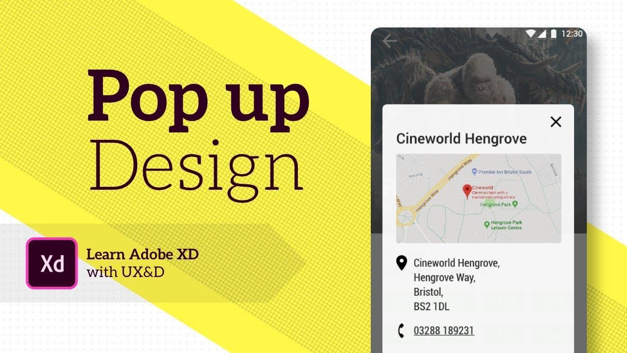 Adobe XD app design   Pop up window