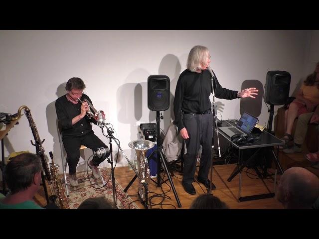 Jaap Blonk und Udo Schindler 84.Salon 1
