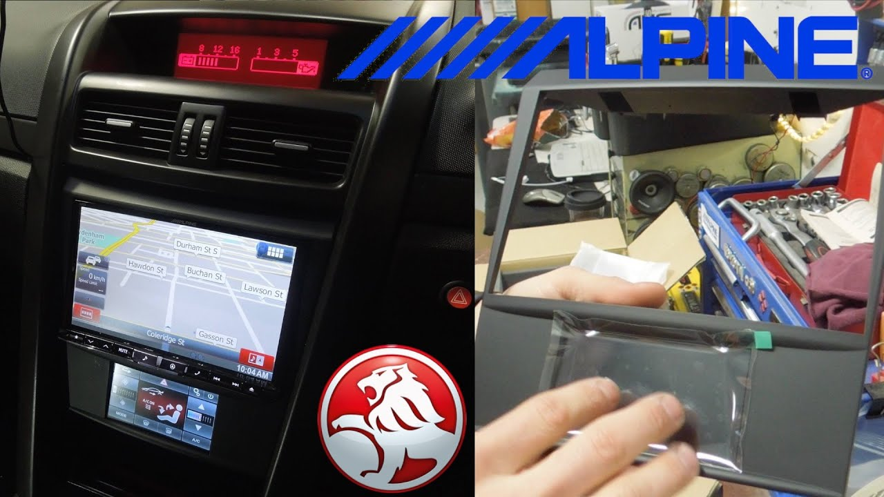 Holden VE Commodore Alpine Stereo Fitting Kit UNBOXING
