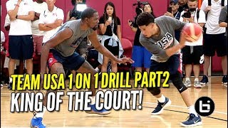 USA Basketball EPIC 1 ON 1 DRILL PART 2 Kevin Durant Cooking Everyone