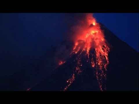 Timelapse: Mayon volcano in the Philippines spews lava and ash