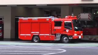 流石に上手い!消防車 格納!緊急出動(任務)を終え消防署に帰還した消防自動車の完璧な車庫入れ!fire engine fire station