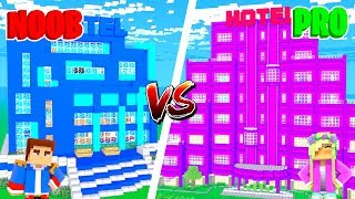 Minecraft NOOB VS PRO : GIRL VS BOY HOTEL in Minecraft!