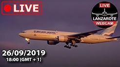 Lanzarote Webcam -  Live event from Lanzarote Airport (Boeing 777 UK CAA Repatriation).