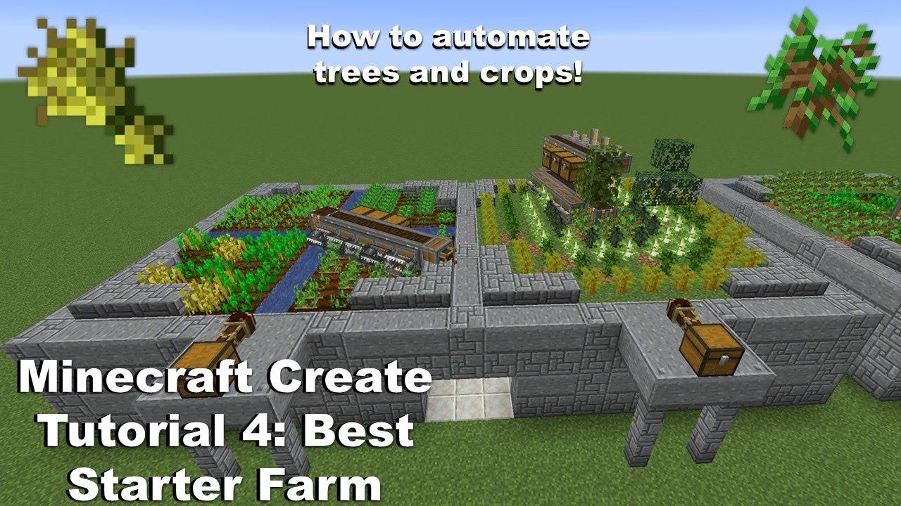 Minecraft Create Tutorial: Episode 26: Best starter farm!