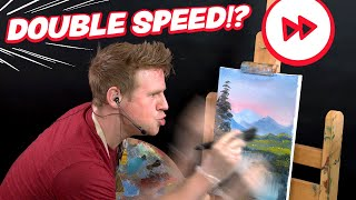 🎨⏩ I Try to Paint TWICE AS FAST as Bob Ross... YouTube Videos