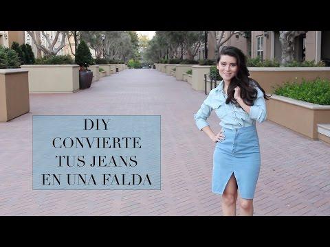 CONVIERTE TUS JEANS EN UNA FALDA |Fashion Riot