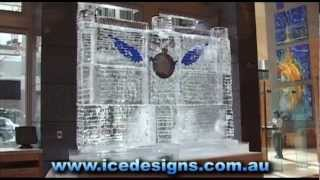 Racv Wall Of Ice - Ice Carving By Down Under Ice Designs