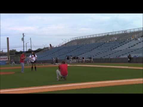 First Pitch of the Nashville Sounds Minor League Game - Tony LaGuardia