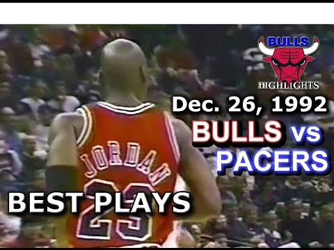 December 26 1992 Bulls vs Pacers highlights