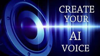 AI sesini oluşturma