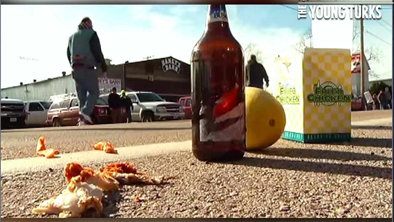 Ferguson Marchers Challenged With Fried Chicken & Watermelon