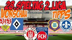 28.Spieltag 2.Liga Vorschau + Tipps // TOPDUELL Stuttgart - Hamburg + diverse ABSTIEGSDUELLE!⚽⚽