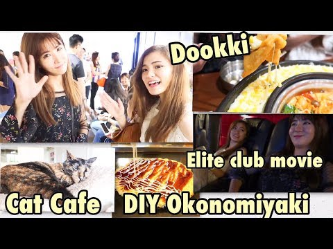 Interesting Places to Go in Singapore: Dookki Buffet, Cat Cafe, DIY Okonomiyaki, Elite Club Movie