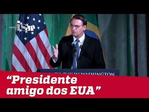 Bolsonaro se diz 'presidente amigo dos EUA'