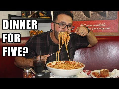 8 lb Family Feast Challenge at Buca di Beppo *Dinner for 5?* | Freak Eating