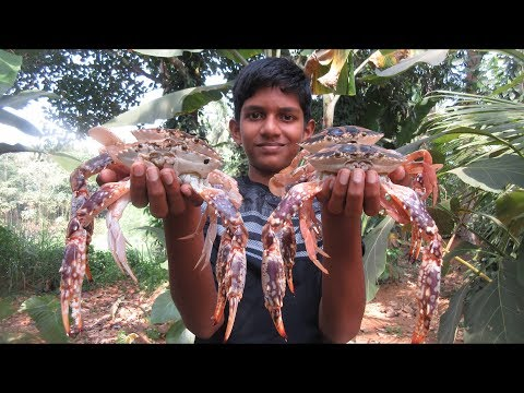 Village food factory / Crab Curry – Crab Recipe Cooking by my Family in my village / Family Cooking