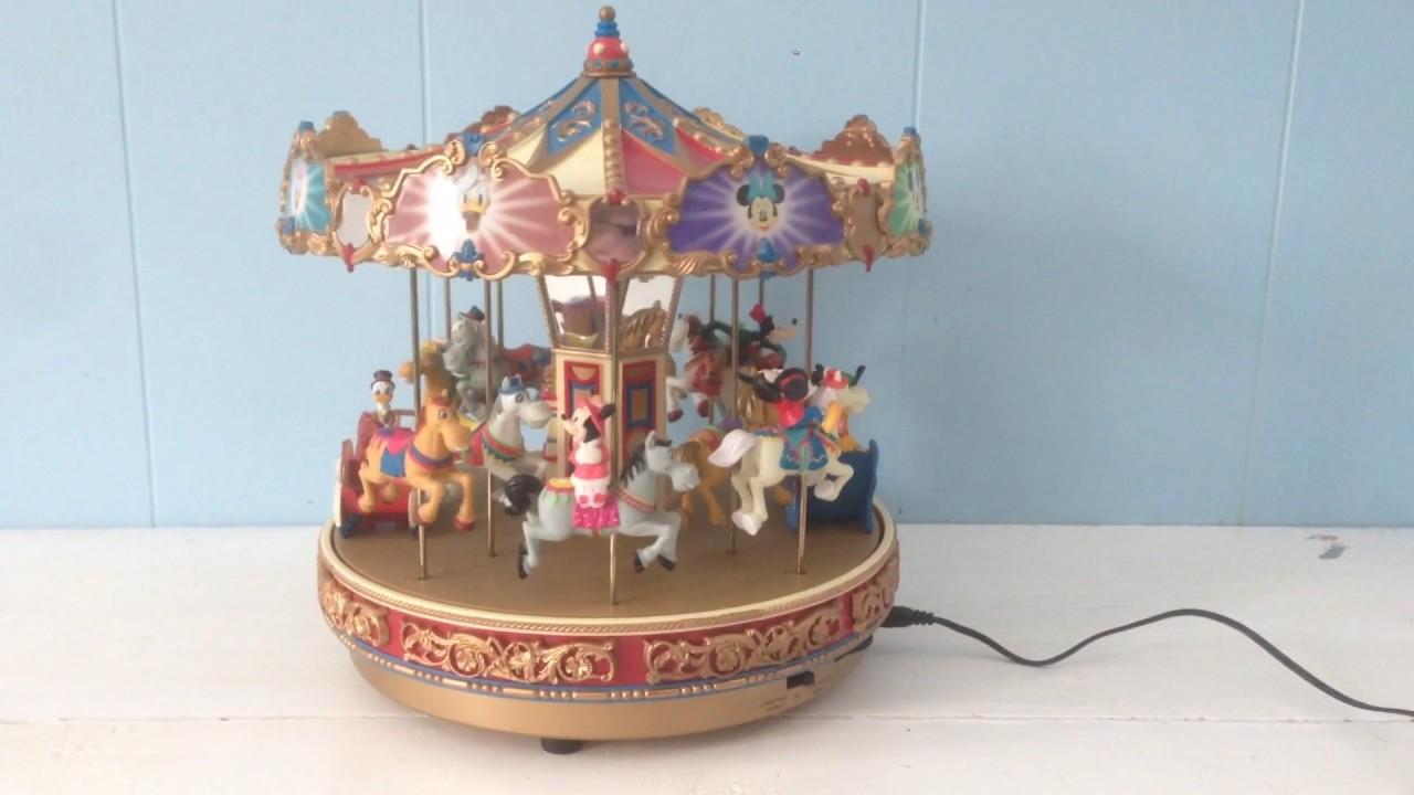 Mr Christmas Carousel.Mr Christmas Mickey S Holiday Carousel