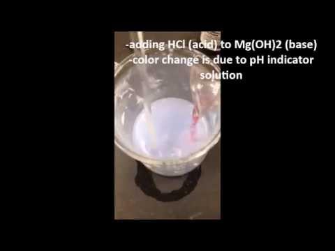 Magnesium Hydroxide Lab Video
