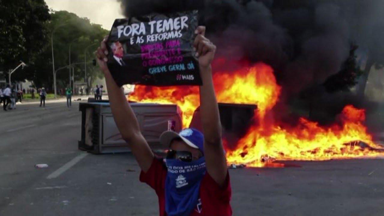 Risultati immagini per sciopero generale brasilia