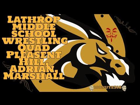 Lathrop middle school wrestling Quad Pleasent Hill, Adrian, Marshall