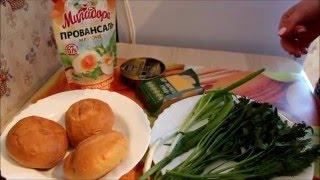 Закуска с шпротами/Готовим дома/Быстро Вкусно