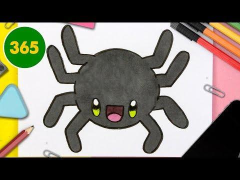 Comment Dessiner Un Araigné Kawaii Facile Dessins Kawaii