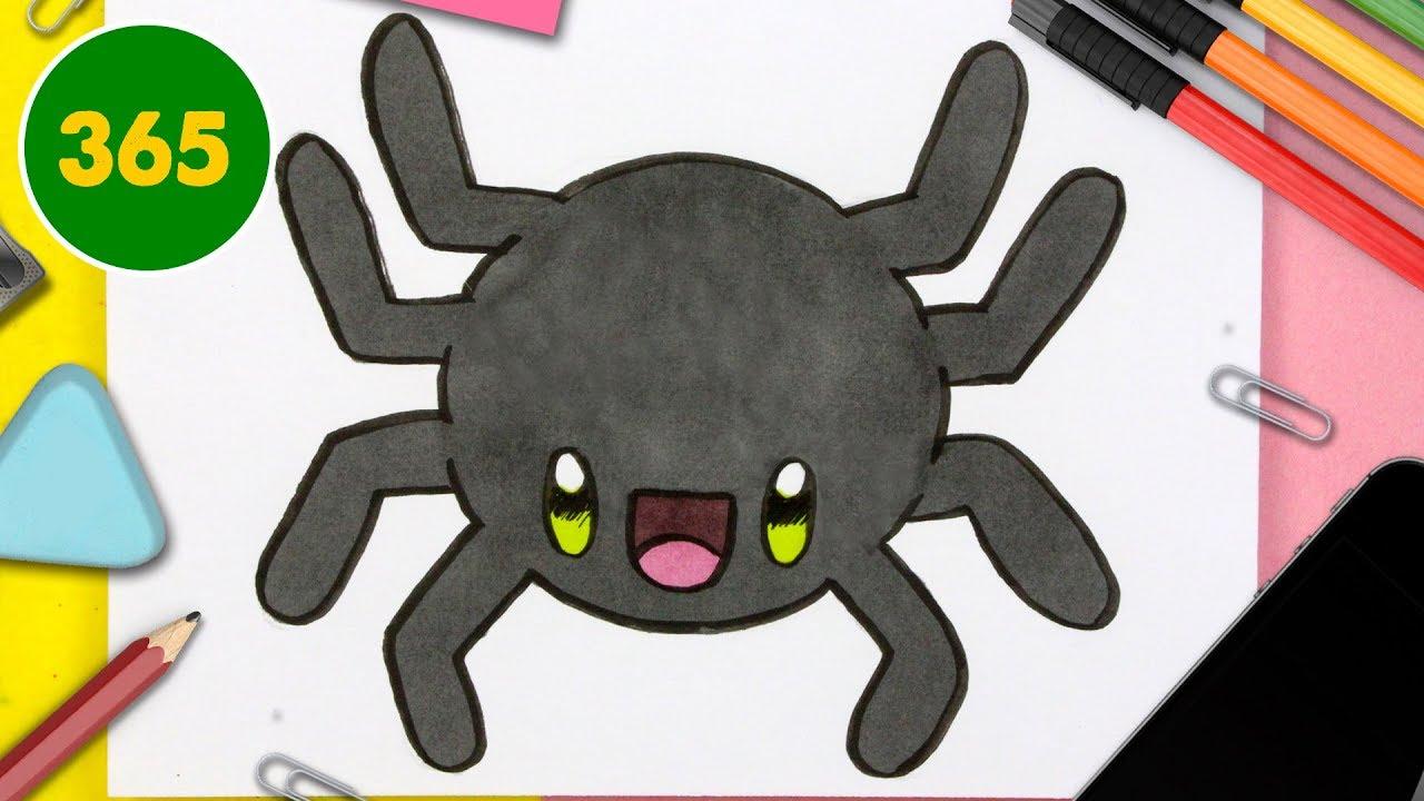 Comment Dessiner Un Araigné Kawaii Facile Dessins Kawaii Faciles Dessiner Des Animaux Kawaii
