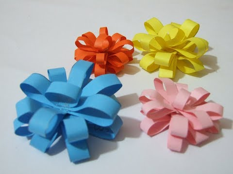 DIY How to make easy/  Mini paper Bows for gift/ Queen of DIY Crafts..