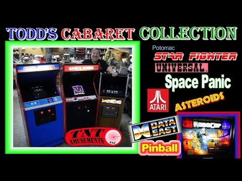 #1205 SPACE PANIC-ASTEROIDS-STAR FIGHTER Cabaret Arcade Game