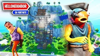 NUEVO *HELLO NEIGHBOR EN FORTNITE* FINAL DESCUBIERTO