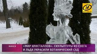 Фестиваль ледяных скульптур в Ботаническом саду в Минске