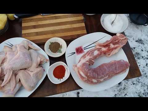 Тандыр. Микс: свинина, крылышки, картофель!!! Готовлю в Тандыре!