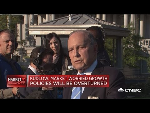 Kudlow: Market worried growth policies will be overturned