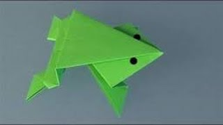 How To Make An Origami Frog How To Make Origami Animals Origami Frog HD