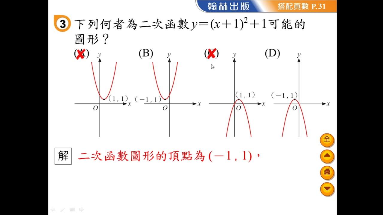 翰林國中數學課本九下第1章第1節自評第3題 - YouTube