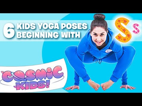 6 Kids Yoga poses that begin with the letter S! ����‍♀️⭐️������