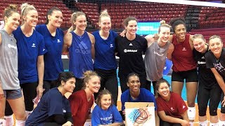Chloe Trains with U.S. Women's National Team | Make-A-Wish