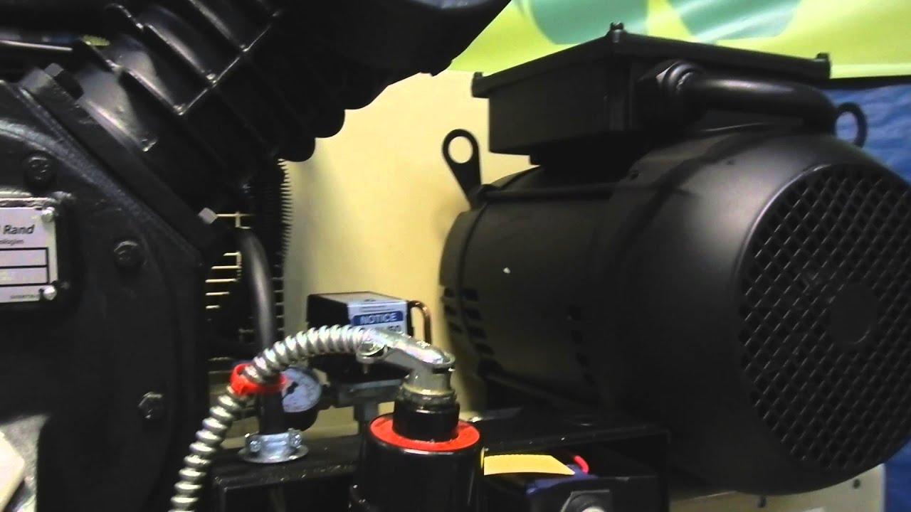 Ingersoll Rand 80 Gallon 7 5 Hp Compressor 143 YouTube – Ingersoll Rand 2475n7.5 Wiring Diagram