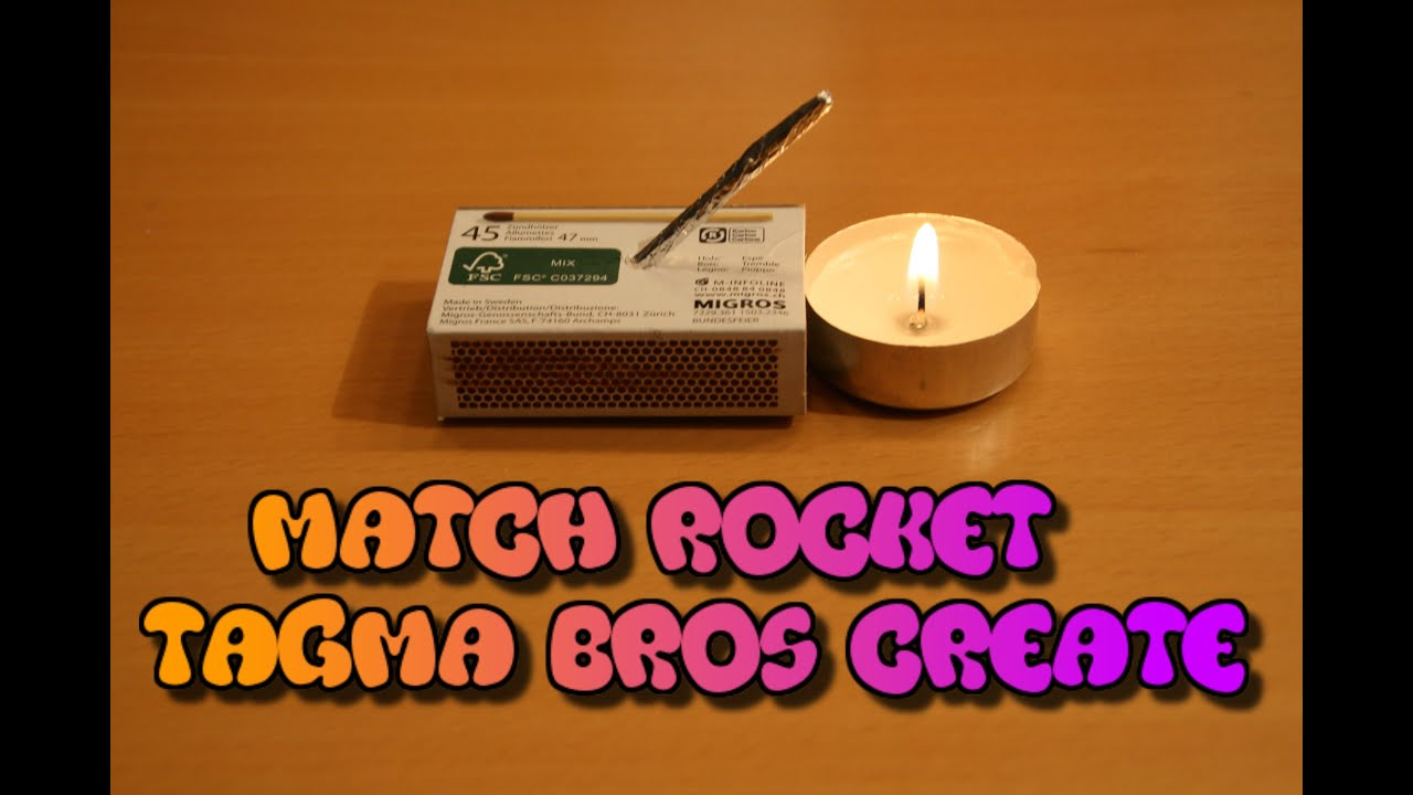 how to make a matchrocket mini rakete selber bauen youtube. Black Bedroom Furniture Sets. Home Design Ideas