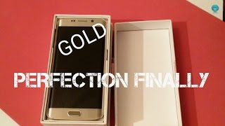 Samsung Galaxy S6 Edge Gold Unboxing! (A perfect unit FINALLY)